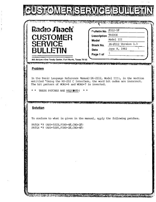 Tandy / Radio Shack Memos, Bulletins, and Releases | Ira Goldklang's